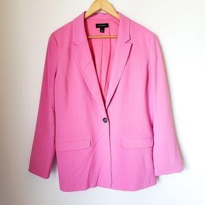 Halogen | Bubblegum Hot Pink Blazer Single Button